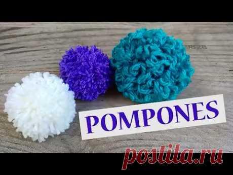 El secreto para hacer pompones de lana fácil y rápido!!!