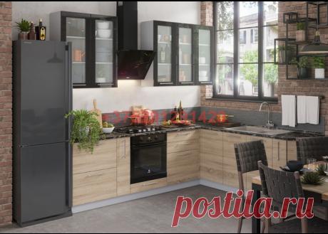 Кухня модульная Олива (черный металлик/дуб сонома): купить в Минске недорого, низкие цены, скидки, рассрочка