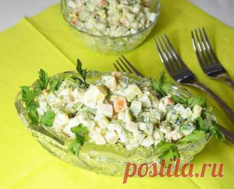 """""""Деревенский&quot salad;. Simple and tasty salad for every day — the Recipe-book - recipes with a photo"""
