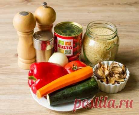 Овощной плов с лесными грибами и фасолью - Пошаговый рецепт с фото   Вторые блюда   Вкусный блог - рецепты под настроение