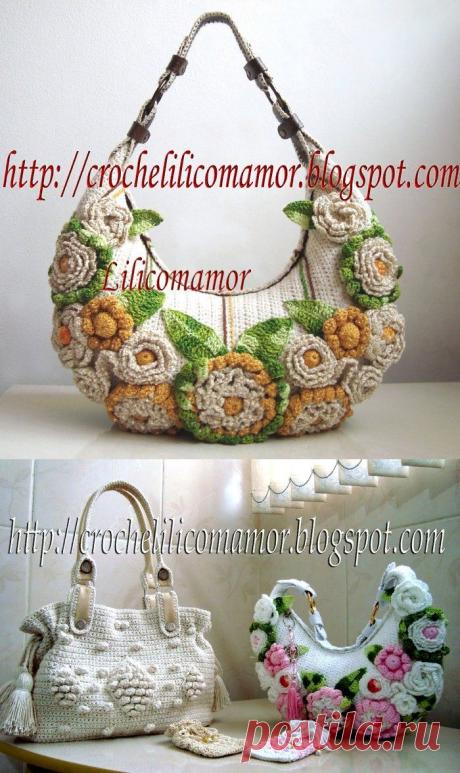Красивые вязаные сумки. Идеи для вдохновения