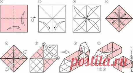 Как за 15 минут сделать коробочку из крафт-бумаги в технике оригами - Ярмарка Мастеров - ручная работа, handmade