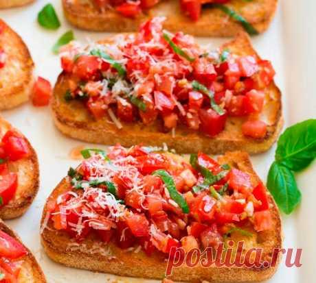 Легкий рецепт итальянской закуски Брускетты Узнайте как приготовить итальянскую закуску брускетты. Это одна из классических вещей, которую Итальянцы заказывают в итальянском ресторане. Теперь и у Вас появиться возможность, полюбить это блюдо...
