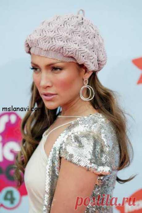 Ажурный берет по мотивам берета J.Lo | Вяжем с Ланой