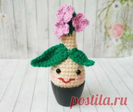 Забавный цветок крючком. Оригинальный подарок на 8 марта » «Хомяк55» - всё о вязании спицами и крючком