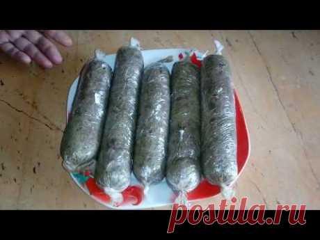 Домашняя колбаса из печени