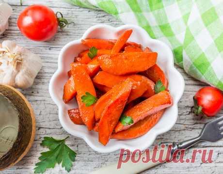 Рецепт глазированной моркови с бальзамическим уксусом