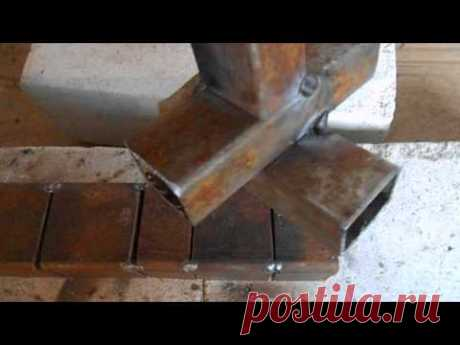 Welding of profile pipes (lower situation)