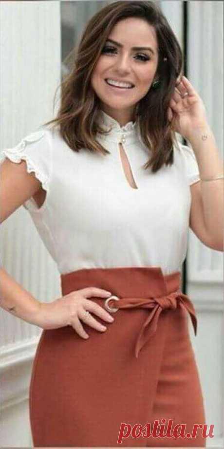 Простая и красивая выкройка деловой юбки (6 размеров) Модная одежда и дизайн интерьера своими руками
