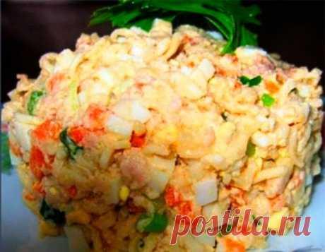 Моя копилка - Кухня: Салат «Дальневосточный» с печенью трески