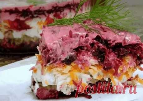 """Салат """"ЧИНГИСХАН"""" со свеклой, орехами и сыром - главная фишка праздничного стола Вкусно, не передать словами!"""