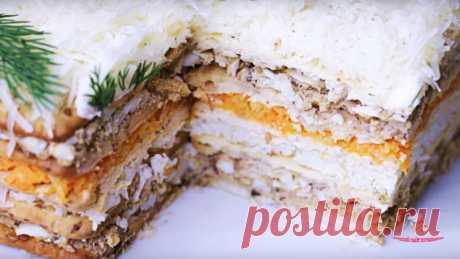 Закусочный торт со шпротами - Лучший сайт кулинарии