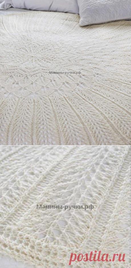 Вязаная спицами круглая шаль Sampler | Мамины-ручки.рф