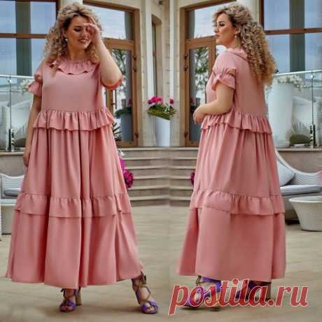 Романтичное платье большой размер лето : скидка для всех. Новая коллекция. Доставка.