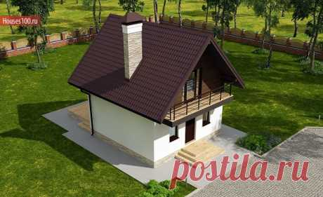 C-60 Проект дачного дома 6x6 - Проекты домов и коттеджей в Москве