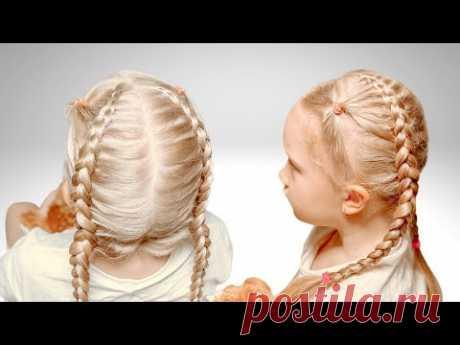 Косички для детей | Прически для девочек - YouTube