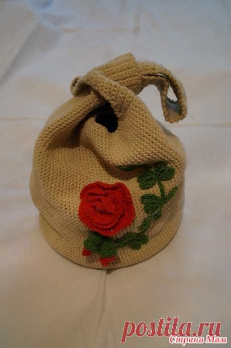 Summer handbag a hook - Knitting - the Country of Mothers