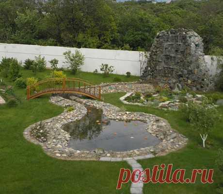20 вдохновляющих примеров декоративных водоемов, которые каждый сможет создать на своём садовом участке