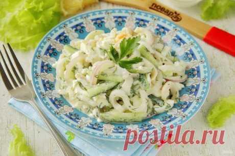ПП салат с кальмаром - пошаговый рецепт с фото на Повар.ру