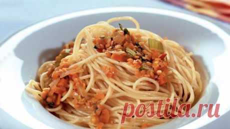Спагетти с соусом из чечевицы, пошаговый рецепт с фото Спагетти с соусом из чечевицы. Пошаговый рецепт с фото, удобный поиск рецептов на Gastronom.ru