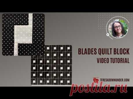 Видеоурок по блокам Blade quilt