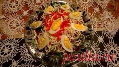 """Креветочный салат """"простой, как раз-два-три ;-)"""""""