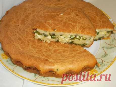 Заливной пирог с зеленым луком и яйцом - пошаговый рецепт с фото - как приготовить, ингредиенты, состав, время приготовления - Леди Mail.Ru