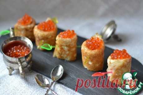 Дрожжевые блины с лососем - кулинарный рецепт
