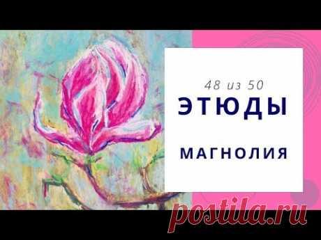 4️⃣8️⃣ МАГНОЛИЯ (сухая пастель). Серия «50 этюдов»