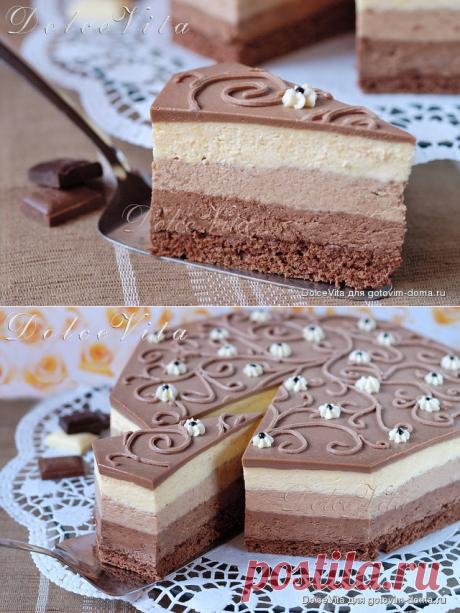 """Торт-мусс """"Три шоколада"""" от Луки Монтерсино"""