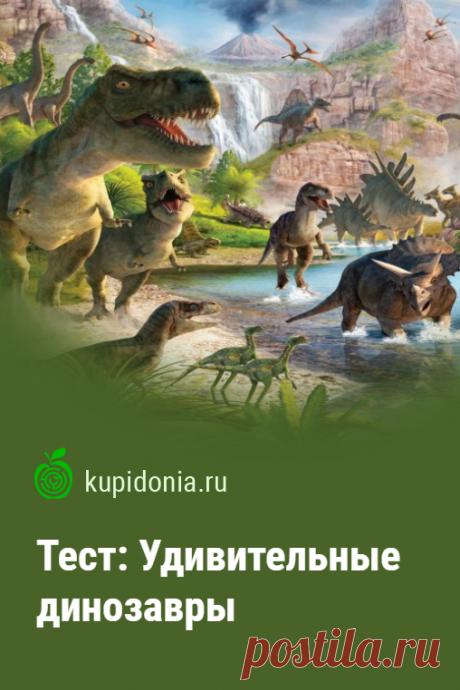 Тест: Удивительные динозавры. Интересный тест о динозаврах из серии «Вымершие животные». Проверьте свои знания!