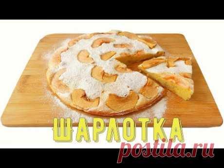 "Яблочный пирог ""Шарлотка""/Apple pie ""charlotte"" - YouTube"