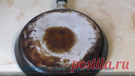 Способ, с помощью которого можно отмыть сковороду, казан от жира, используя таблетку для посудомоечной машины и горчицу.   Марина Жукова   Яндекс Дзен