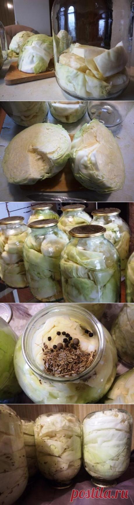 Рецепт маринованной капусты на зиму