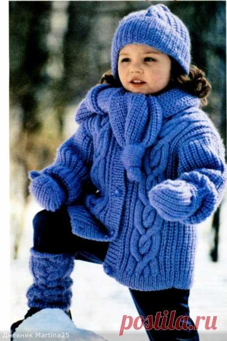 Зимний вязаный комплект для девочки! из категории Интересные идеи – Вязаные идеи, идеи для вязания