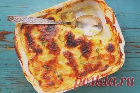 Гратен из картофеля с беконом