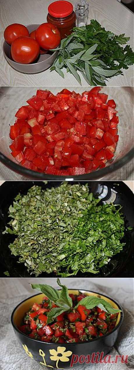 Помидорно-мятная приправа к шашлыку / Простые рецепты