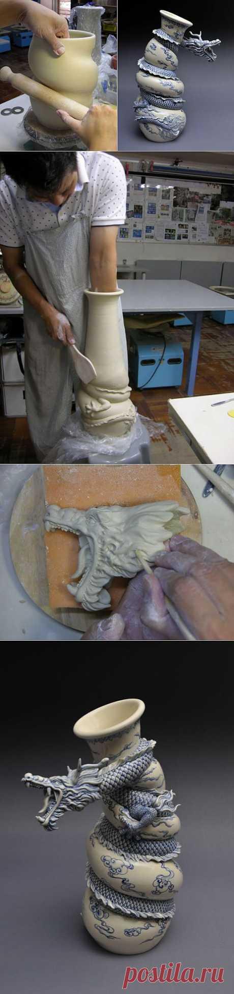 Как рождаются фарфоровые драконы: мастеркласс скульптора Johnson Tsang | Скульптура | Арт
