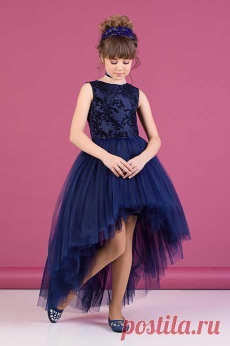 Платье синее для девочки Z2-38-9019-2