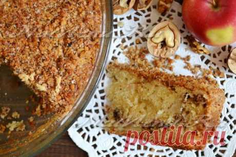 Сметанный пирог с яблоками