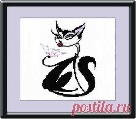 стильные кошечки вышивка - Поиск в Google