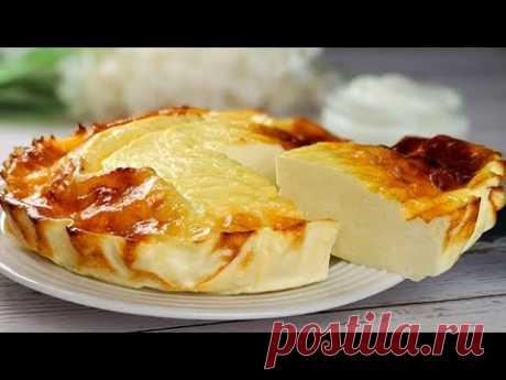 Йогуртовый пирог: 3 ингредиента / без добавления сахара и муки