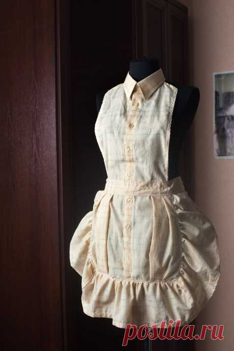 Фартук из рубашки / Рубашки / Модный сайт о стильной переделке одежды и интерьера