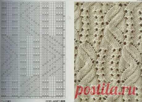 Красивый пуловер спицами из категории Интересные идеи – Вязаные идеи, идеи для вязания