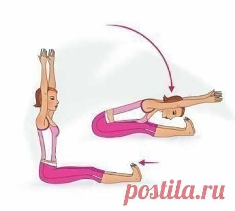 Простые упражнения для растяжки. 30 cекунд в каждой позиции