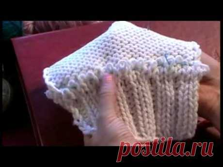 6-1 Трикотажные швы. Трикотажный кеттельный шов иглой. Как пришить воротник #knitting