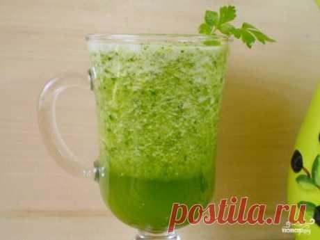 Зеленый коктейль с огурцом - пошаговый рецепт с фото на Повар.ру