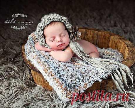 Newborn Bonnet WILLOW handspunwool bonnet Photo от Knitbysarah