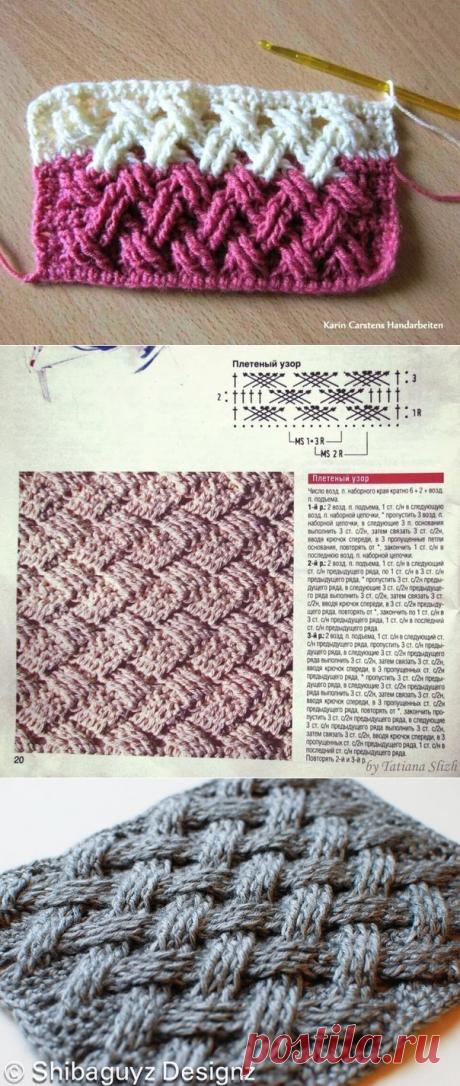Вязание-крючок-Рисунки и схемы >Узор