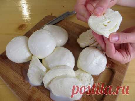 Домашний сыр (моцарелла)